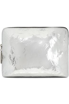 3.1 PHILLIP LIM Metallic cracked-leather cosmetics case