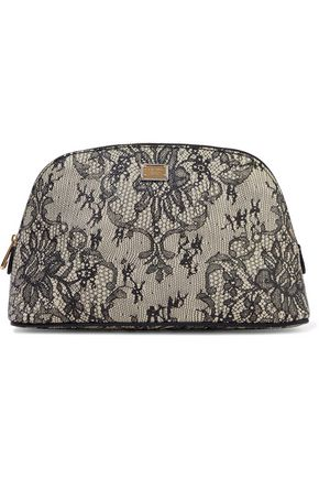 DOLCE & GABBANA Printed textured-leather cosmetics case