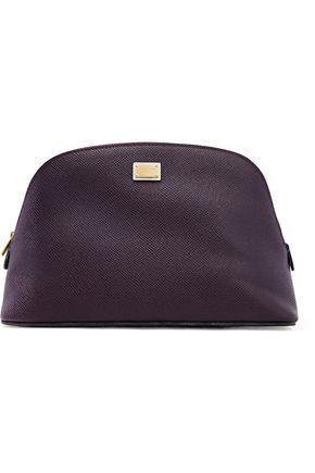 DOLCE & GABBANA Textured-leather cosmetics case