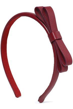 REDValentino Bow-embellished leather headband
