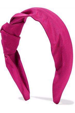 RED(V) Knotted satin-twill headband