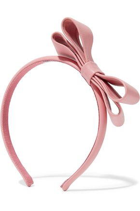 REDValentino Bow-embellished leather headband