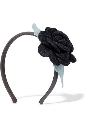 REDValentino Brushed felt headband