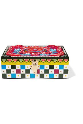 DOLCE & GABBANA Embellished painted wood jewelry box