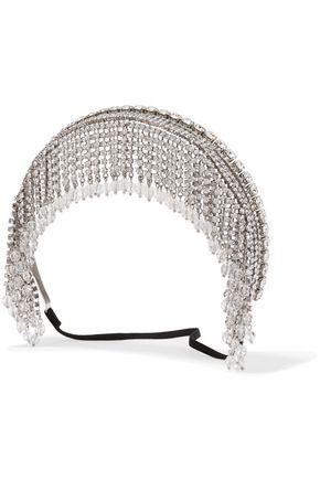 MIU MIU Silver-tone, crystal and bead headband