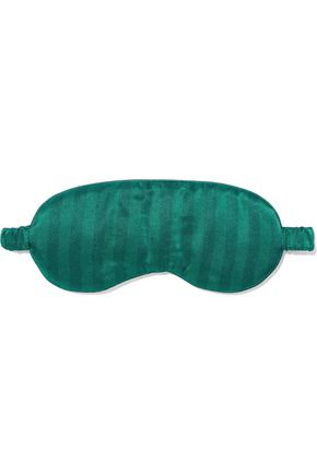 IRIS & INK Melinda striped silk-blend satin sleep mask