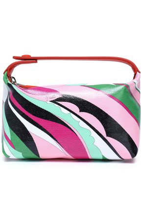EMILIO PUCCI Leather-trimmed [printed coated canvas cosmetics case