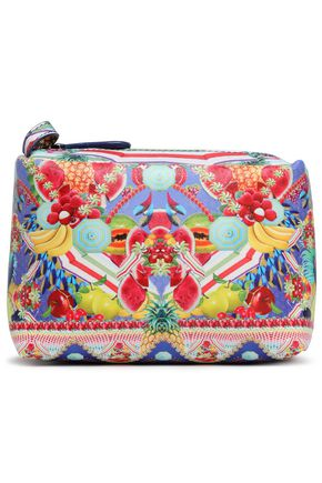 CAMILLA Printed coated faux leather cosmetics bag