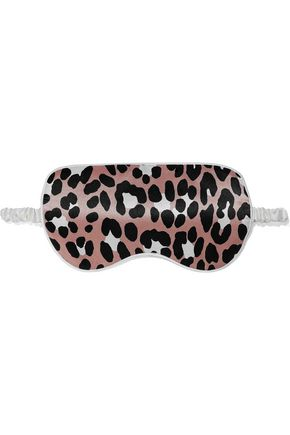 OLIVIA VON HALLE Leopard-print silk-charmeuse sleep mask
