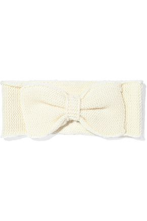 MADELEINE THOMPSON Kathy bow-embellished wool and cashmere-blend headband