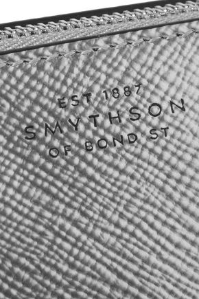 SMYTHSON Panama metallic textured-leather cosmetics case