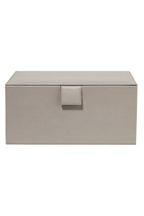 SMYTHSON Grosvenor textured-leather jewelry box