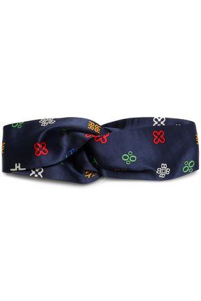 TORY BURCH Printed silk-satin headband