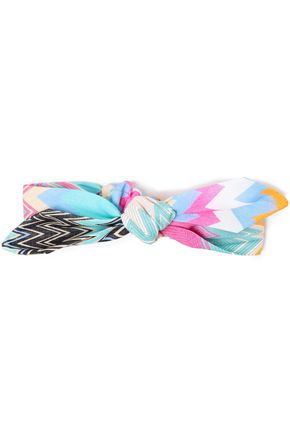 MISSONI MARE Knotted printed cotton headband