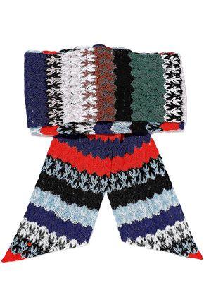MISSONI Knotted crochet-knit headband
