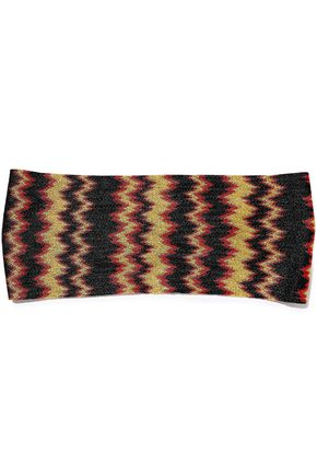 MISSONI Metallic crochet-knit headband