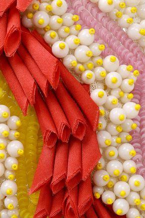 MISSONI Embellished crochet-knit headband