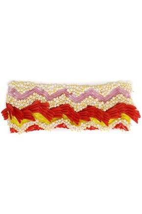 MISSONI Embellished crochet-knit headband