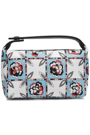 EMILIO PUCCI Leather-trimmed printed twill cosmetics case