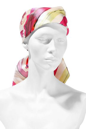 EUGENIA KIM Gigi printed satin-twill headscarf