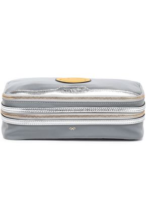 ANYA HINDMARCH Wink Make Up metallic leather-trimmed reflective shell case