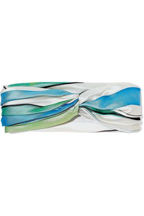 EUGENIA KIM Twist-front satin faille headband