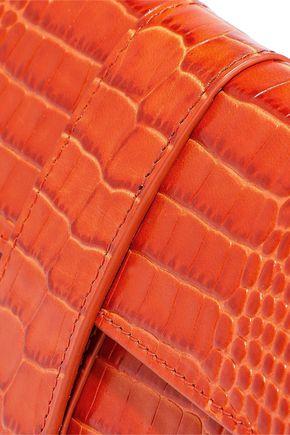 SMYTHSON Mara small croc-effect leather jewelry roll