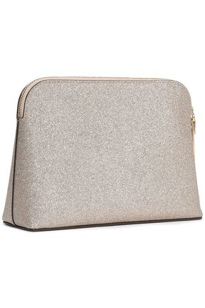 KATE SPADE New York Glittered faux leather cosmetics case