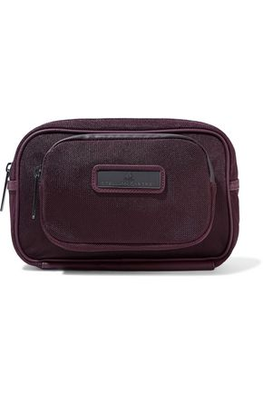ADIDAS by STELLA McCARTNEY Faux leather-trimmed mesh cosmetics case