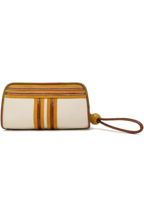 TORY BURCH Textured-leather pouch