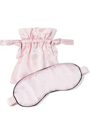 IRIS & INK Ines silk-blend satin eye mask