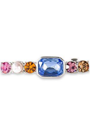 BEN-AMUN Silver-tone, Swarovski crystal and faux pearl hair clip