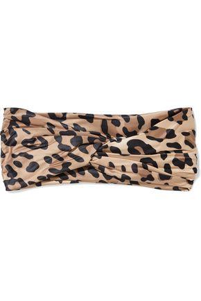 EUGENIA KIM Malia twisted leopard-print satin headband