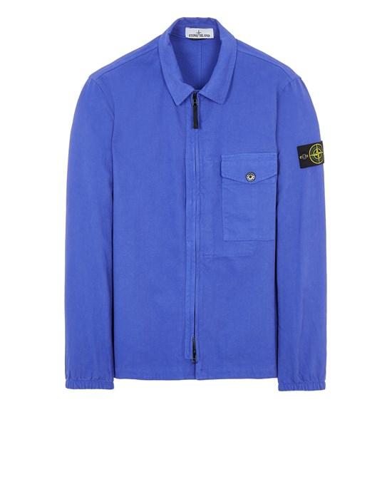 STONE ISLAND 10704 TEXTURED BRUSHED RECYCLED COTTON  Over Shirt Herr Blauviolett