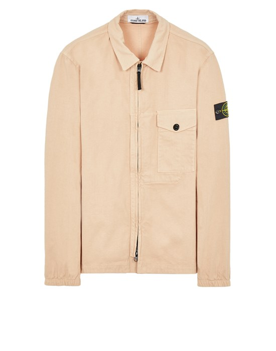 STONE ISLAND 10704 TEXTURED BRUSHED RECYCLED COTTON  Over Shirt Herr Altrosa