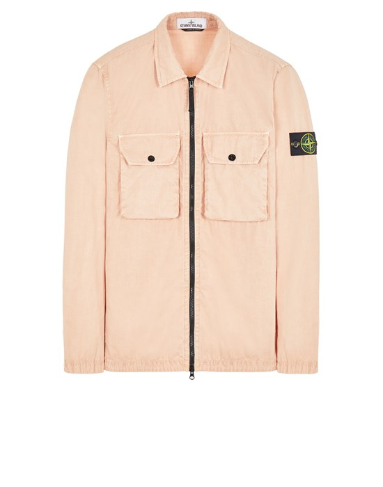 STONE ISLAND 113WN BRUSHED COTTON CANVAS_'OLD' EFFECT Over Shirt Herr Altrosa