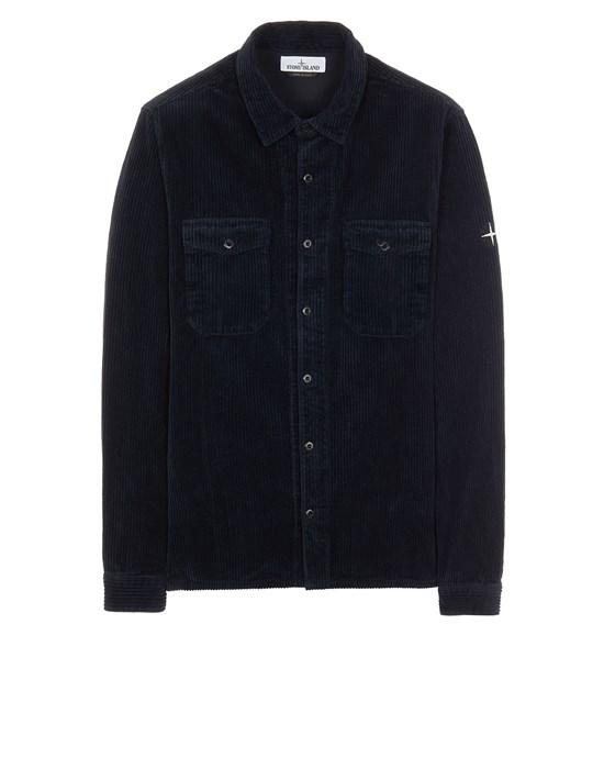 STONE ISLAND 12111 COTTON CORDUROY Long sleeve shirt Man Blue