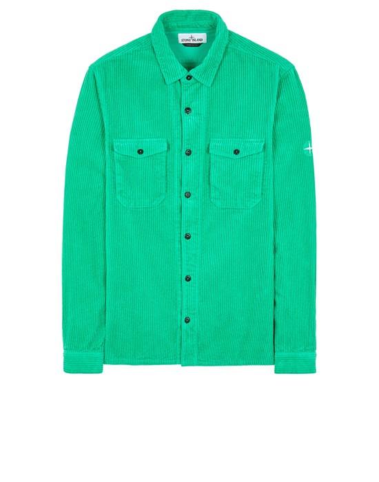 STONE ISLAND 12111 COTTON CORDUROY Long sleeve shirt Man Green