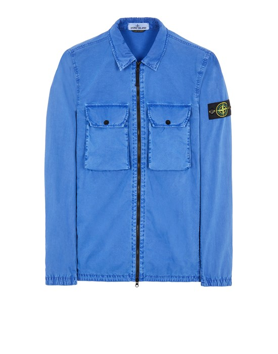 Over Shirt Man 113WN BRUSHED COTTON CANVAS_'OLD' EFFECT Front STONE ISLAND
