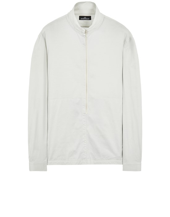 STONE ISLAND SHADOW PROJECT 10105 MERCERIZED JERSEY, GARMENT DYED_CHAPTER 1 Long sleeve shirt Man Pearl Gray