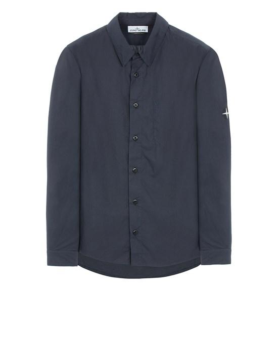 STONE ISLAND 12501 LIGHT COTTON TELA 'PARACADUTE' Long sleeve shirt Man Blue