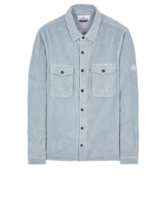 STONE ISLAND 12111 COTTON CORDUROY Long sleeve shirt Man Pearl Grey
