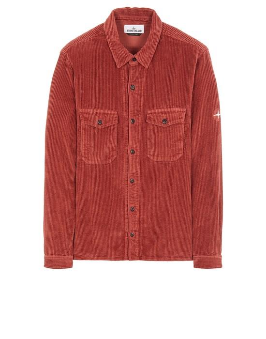 STONE ISLAND 12111 COTTON CORDUROY Long sleeve shirt Man Brick red