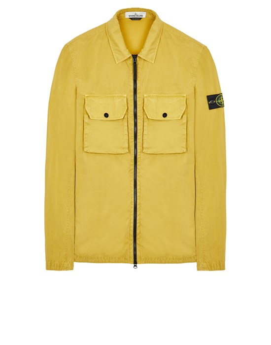 Over Shirt Herr 113WN BRUSHED COTTON CANVAS_'OLD' EFFECT Front STONE ISLAND