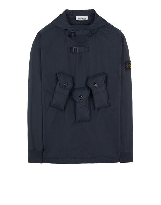 Over Shirt Man 10110 STRETCH COTTON GABARDINE Front STONE ISLAND