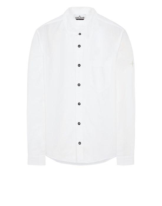 STONE ISLAND 12501 LIGHT COTTON TELA 'PARACADUTE' Long sleeve shirt Man White