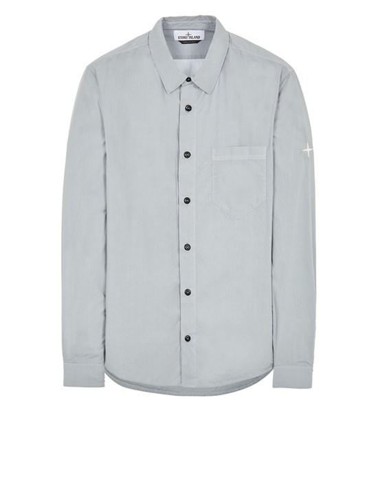 STONE ISLAND 12501 LIGHT COTTON TELA 'PARACADUTE' Long sleeve shirt Man Pearl Gray