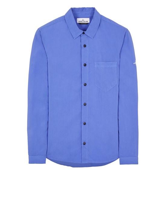 STONE ISLAND 12501 LIGHT COTTON TELA 'PARACADUTE' Long sleeve shirt Man Periwinkle