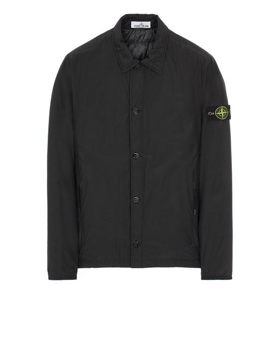 STONE ISLAND 11525 O-COTTON/R-NYLON TELA WITH PRIMALOFT® INSULATION TECHNOLOGY Over Shirt Man Black