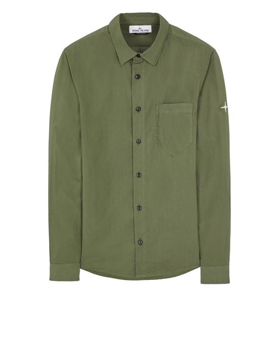 STONE ISLAND 12501 LIGHT COTTON TELA 'PARACADUTE'_REGULAR FIT Long sleeve shirt Man Sage Green